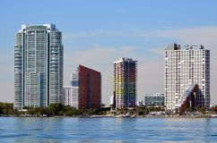 Torres do condomínio da avenida de Brickel Imagem de Stock Royalty Free