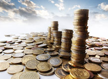 Torres do dinheiro fotografia de stock