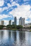 Torres do escritório em Kuala Lumpur Fotos de Stock Royalty Free