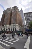 Torres do Herald e Empire State Building, NYC Fotografia de Stock