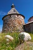 Torres do monastério de Solovetsky Imagens de Stock Royalty Free