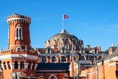 torres do palácio de viagem de Petrovsky em Moscou foto de stock