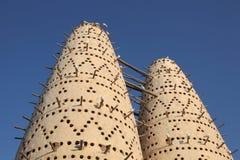 Torres do pombo em Doha, Qatar fotos de stock