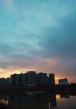 Torres do por do sol Fotografia de Stock Royalty Free