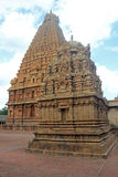 Torres do templo de Sri Brihadeswara, Thanjavur, Tamilnadu, Índia imagem de stock