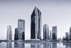 Torres dos lagos Jumeirah em Dubai, Emiratos Árabes Unidos Imagem de Stock