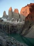 torres du Chili del paine Photographie stock