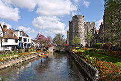 Torres e jardins de Canterbury Westgate Imagens de Stock