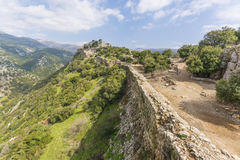 Torres e parede de Nimrod Fortress Ruins fotos de stock royalty free