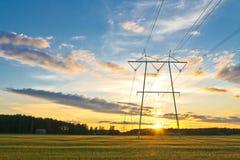 Torres eléctricas Imagen de archivo libre de regalías