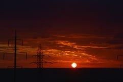 Torres eléctricas Fotos de archivo libres de regalías
