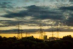 Torres elétricas Fotos de Stock Royalty Free