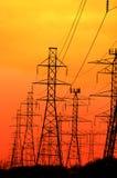 Torres elétricas Fotografia de Stock