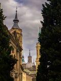 Torres em Zaragoza foto de stock