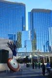 Torres en CityCenter, Las Vegas de la aria Foto de archivo libre de regalías