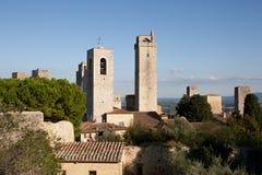 Torres en San Gimignano Imágenes de archivo libres de regalías