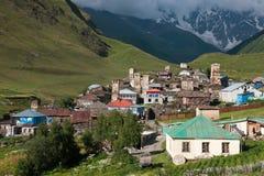 Torres en pueblo de montaña Fotos de archivo