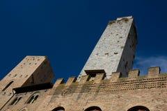 Torres en San Gimignano Foto de archivo