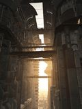 Torres futuristas de la ciudad Foto de archivo