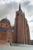 Torres gémeas da catedral de Roskilde Fotos de Stock
