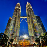 Torres gémeas de Petronas Fotos de Stock Royalty Free