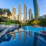 Torres gémeas de Petronas, Kuala Lumpur, Malaysia imagem de stock