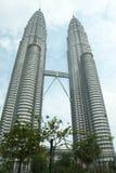 Torres gémeas em Kuala Lumpur Malaysia Fotos de Stock Royalty Free