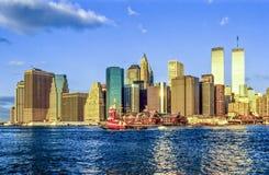 Torres gémeas em New York Fotografia de Stock