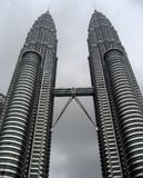 Torres gêmeas de Kuala Lumpur - de Malásia - de Petronas Foto de Stock Royalty Free