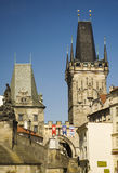 Torres góticas de Praga Imagen de archivo libre de regalías