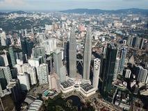 Torres g?meas de Petronas fotos de stock