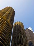Torres gemelas de Chicago imagen de archivo libre de regalías