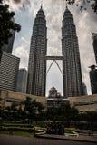 Torres gemelas de Kuala Lumpur Petronas fotografía de archivo libre de regalías