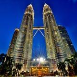 Torres gemelas de Petronas Fotos de archivo libres de regalías