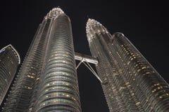 Torres gemelas de Petronas, Kuala Lumpur, Malasia Foto de archivo libre de regalías