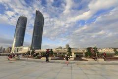Torres gemelas de Xiamen por la tarde Imagenes de archivo