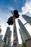 Torres gemelas en Kuala Lumpur Fotos de archivo libres de regalías