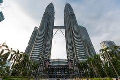 Torres gemelas en Kuala Lumpur Foto de archivo libre de regalías