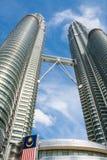 Torres gemelas n Kuala Lumpur, Malasia de Petronas Fotografía de archivo libre de regalías