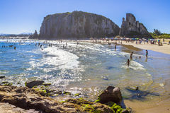 Torres guarita. Day of sun in summer. Heat in Brazilian beach Royalty Free Stock Images