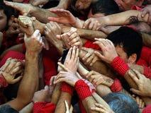Torres humanas Catalan fotografia de stock