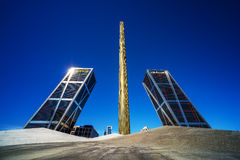 Torres Kio i Madrid Arkivbild