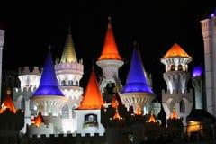 Torres Las Vegas do hotel de Excalibur Fotos de Stock Royalty Free