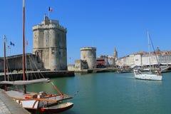 Torres medievais de La Rochelle, França Fotos de Stock Royalty Free