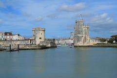 Torres medievais de La Rochelle, França Imagens de Stock Royalty Free