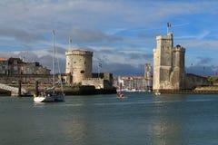 Torres medievais de La Rochelle, França Fotografia de Stock Royalty Free