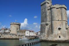 Torres medievais de La Rochelle, França Foto de Stock Royalty Free