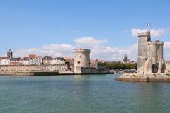 Torres medievales de La Rochelle, Francia Fotos de archivo libres de regalías