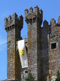 Torres medievales del castillo Fotos de archivo