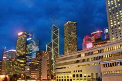 Torres na central, Hong Kong Fotografia de Stock Royalty Free